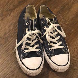 Navy Blue Converse Sneakers Women's 9.5 : Mens 7.5